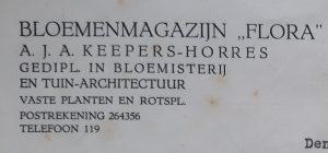 Bloemenmagazijn FLORA Oisterwijk, Jos Kepers